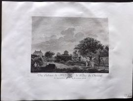 After Jan van der Heyden C1820 Antique Print. Landscape